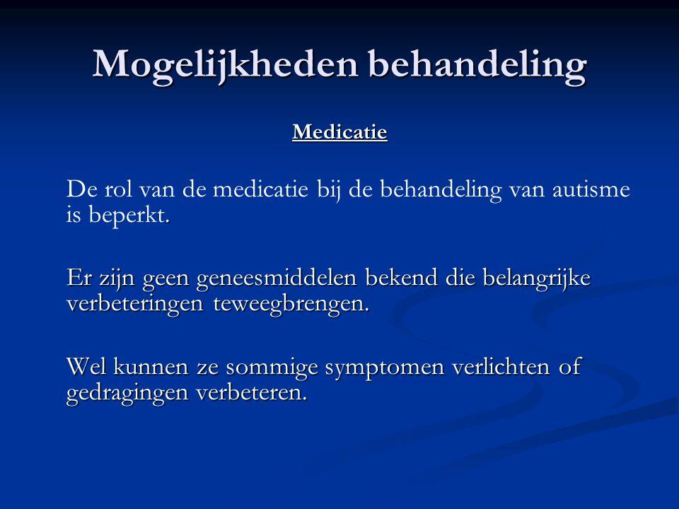 Mogelijkheden behandeling Medicatie.