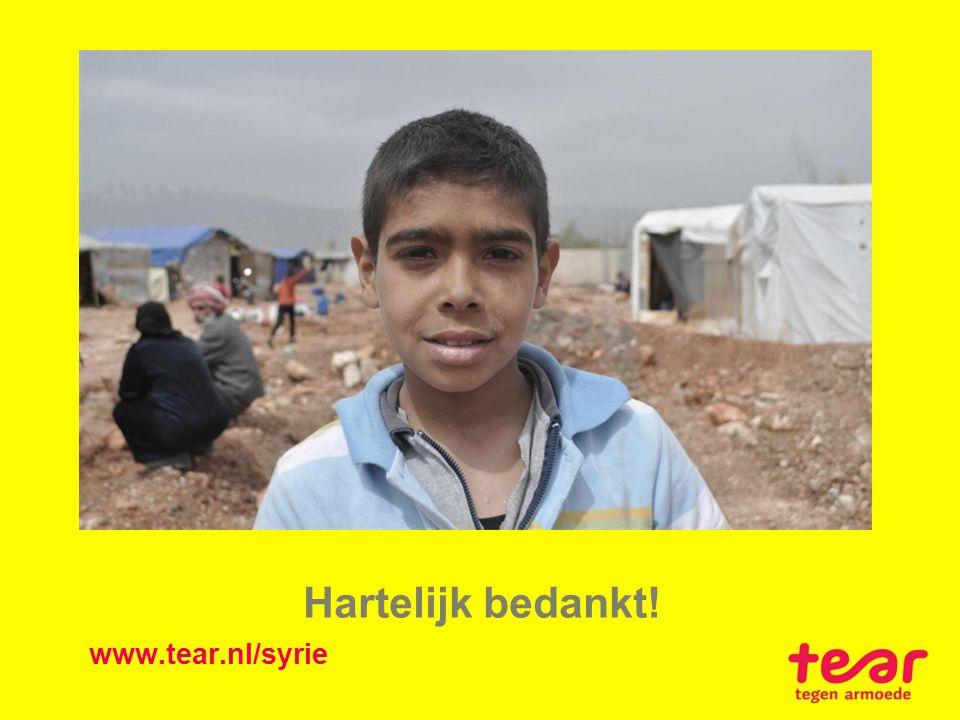 Hartelijk bedankt! www.tear.nl/syrie