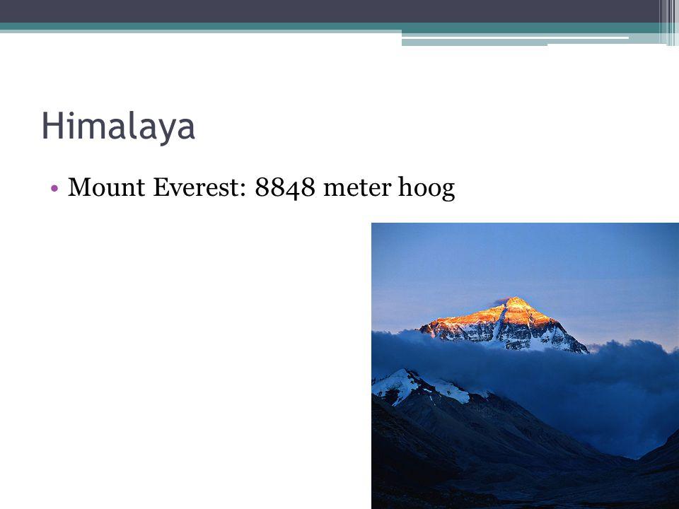 Himalaya Mount Everest: 8848 meter hoog