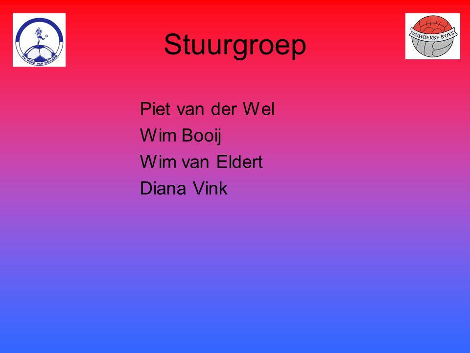 Stuurgroep Piet van der Wel Wim Booij Wim van Eldert Diana Vink
