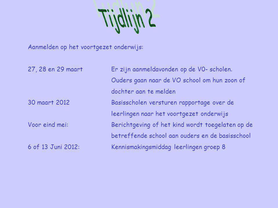 Aanmelden op het voortgezet onderwijs: 27, 28 en 29 maartEr zijn aanmeldavonden op de V0- scholen.