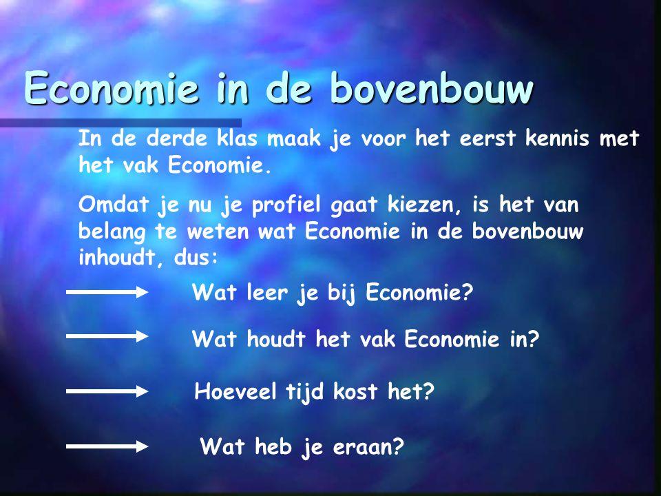 In de derde klas maak je voor het eerst kennis met het vak Economie.