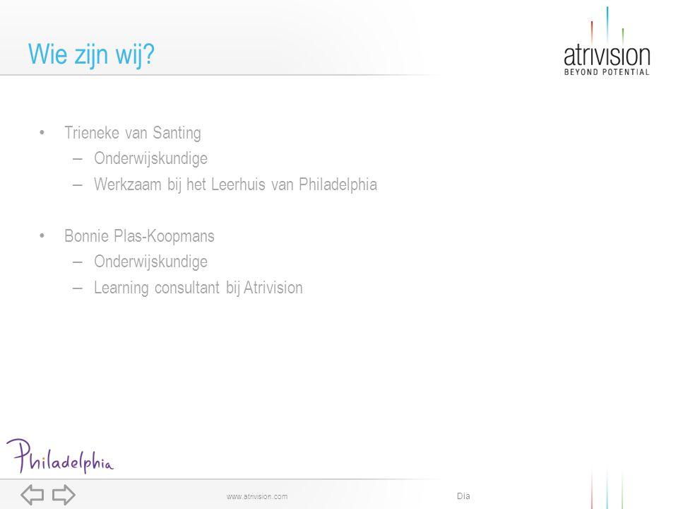 Dia www.atrivision.com Het begint met het opzetten van een plan.