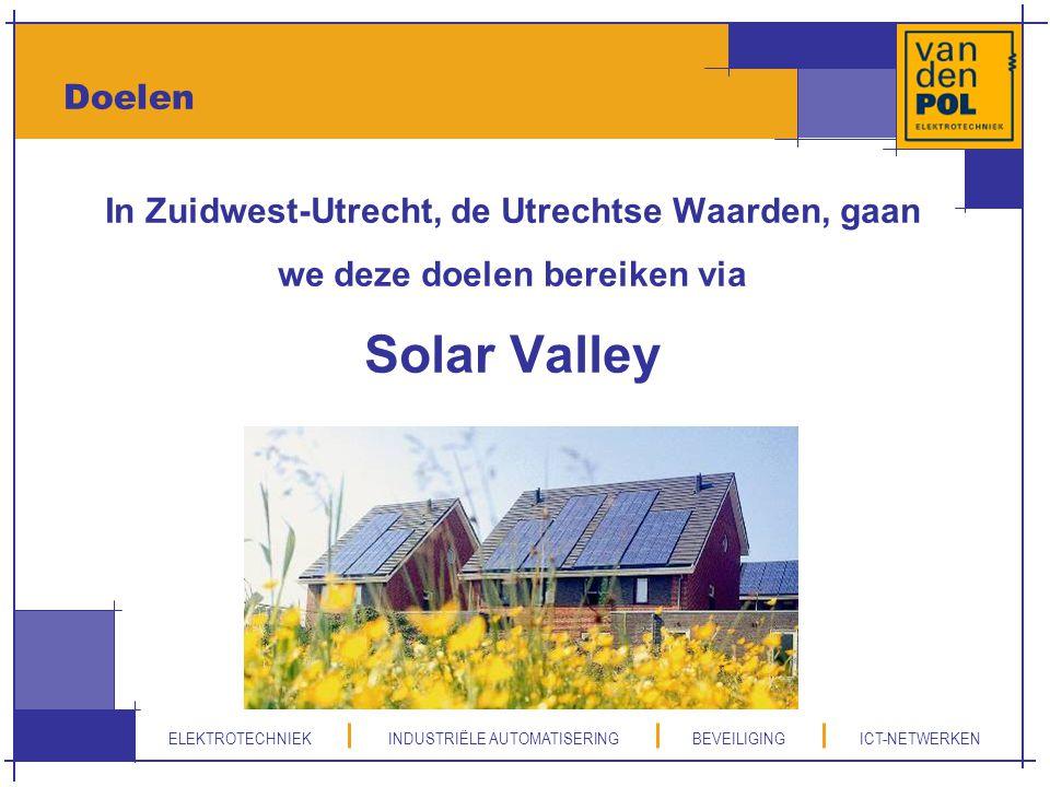 ELEKTROTECHNIEK INDUSTRIËLE AUTOMATISERING BEVEILIGING ICT-NETWERKEN Doelen In Zuidwest-Utrecht, de Utrechtse Waarden, gaan we deze doelen bereiken vi
