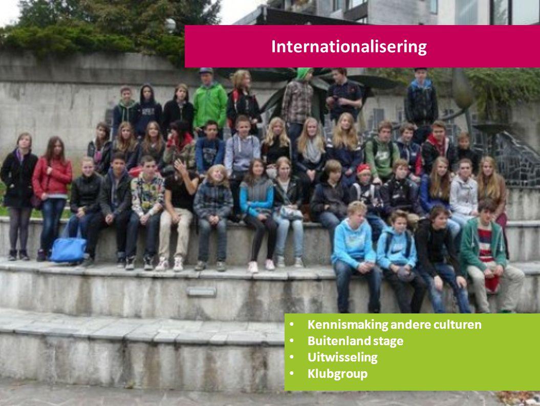 Internationalisering Kennismaking andere culturen Buitenland stage Uitwisseling Klubgroup