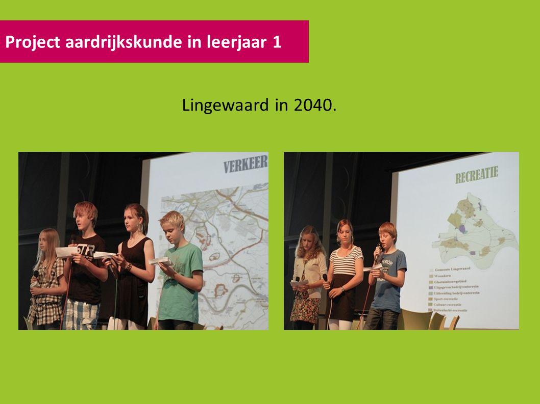 Project aardrijkskunde in leerjaar 1 Lingewaard in 2040.