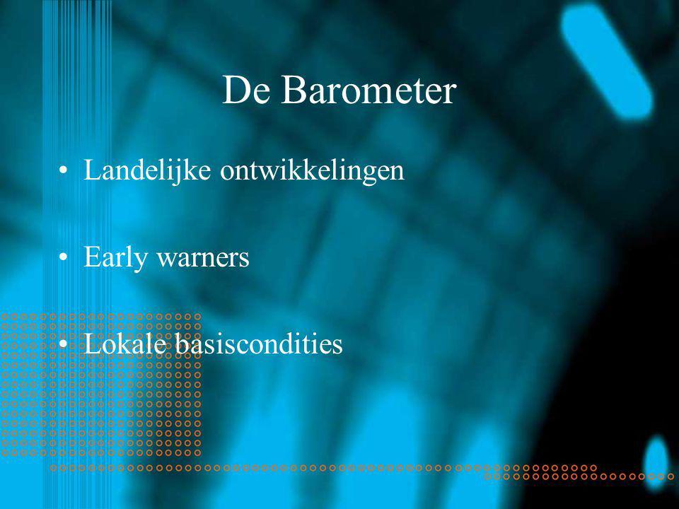 De Barometer Landelijke ontwikkelingen Early warners Lokale basiscondities