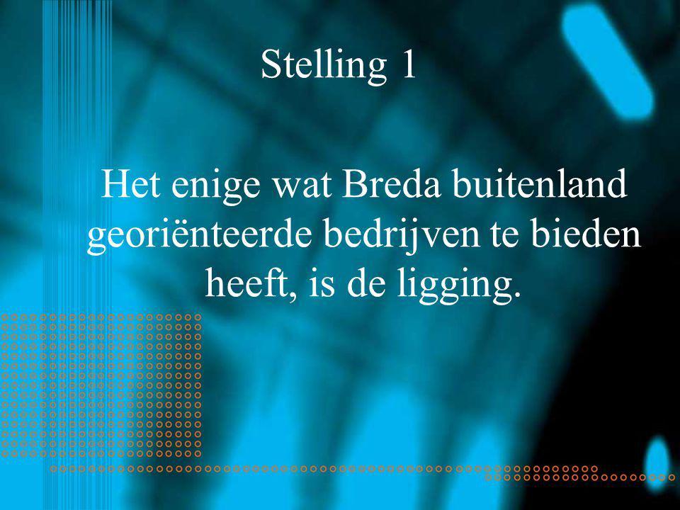Stelling 1 Het enige wat Breda buitenland georiënteerde bedrijven te bieden heeft, is de ligging.