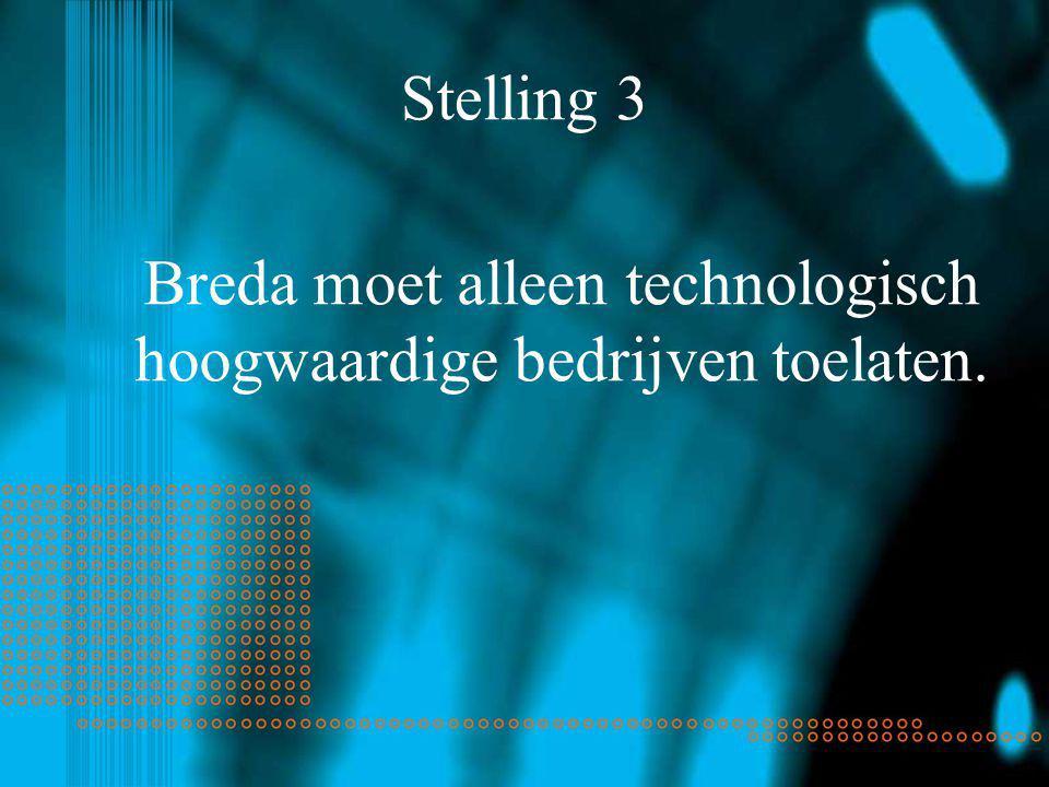 Stelling 3 Breda moet alleen technologisch hoogwaardige bedrijven toelaten.
