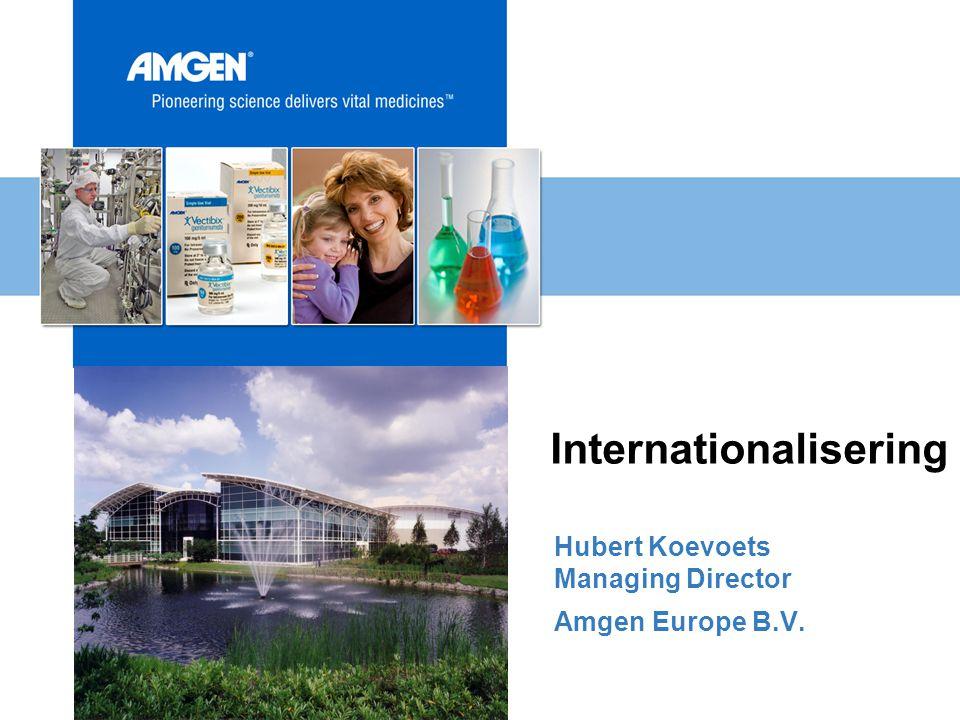 1990 – 1998 1998 - 2000 72 employees 45 employees 2000 - 2002 127 employees 2003 185 employees Amgen Internationaal Vanuit Breda bereikt!