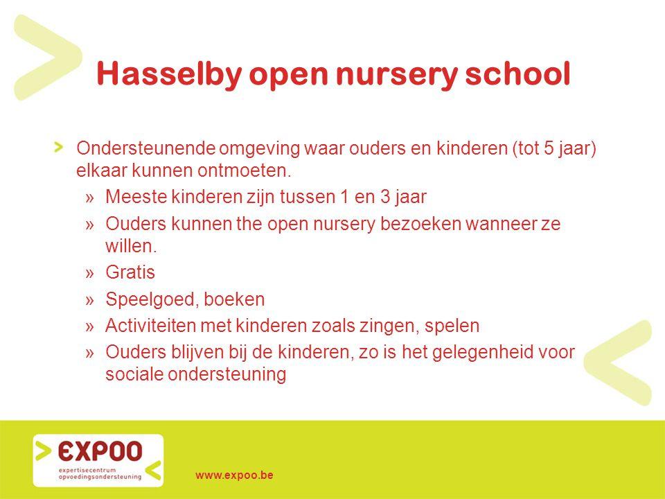 Hasselby open nursery school Ondersteunende omgeving waar ouders en kinderen (tot 5 jaar) elkaar kunnen ontmoeten. »Meeste kinderen zijn tussen 1 en 3