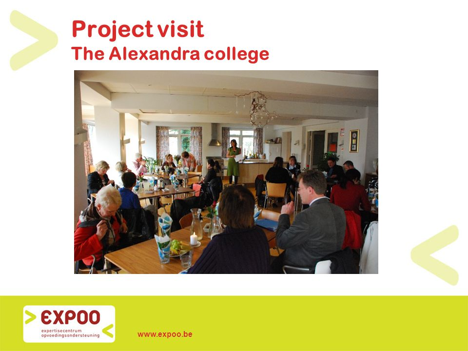 www.expoo.be Project visit The Alexandra college