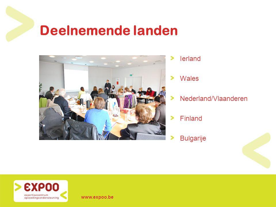www.expoo.be Deelnemende landen Ierland Wales Nederland/Vlaanderen Finland Bulgarije