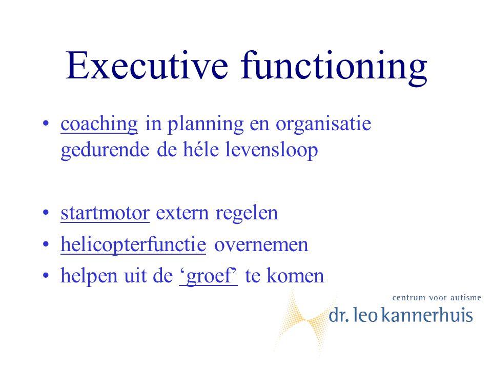 Executive functioning coaching in planning en organisatie gedurende de héle levensloop startmotor extern regelen helicopterfunctie overnemen helpen ui