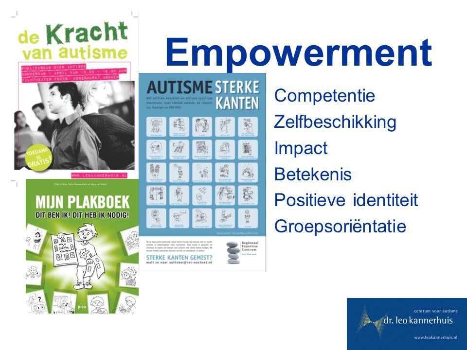 Empowerment Competentie Zelfbeschikking Impact Betekenis Positieve identiteit Groepsoriëntatie