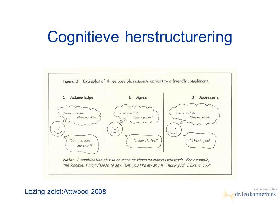 Cognitieve herstructurering Lezing zeist:Attwood 2008