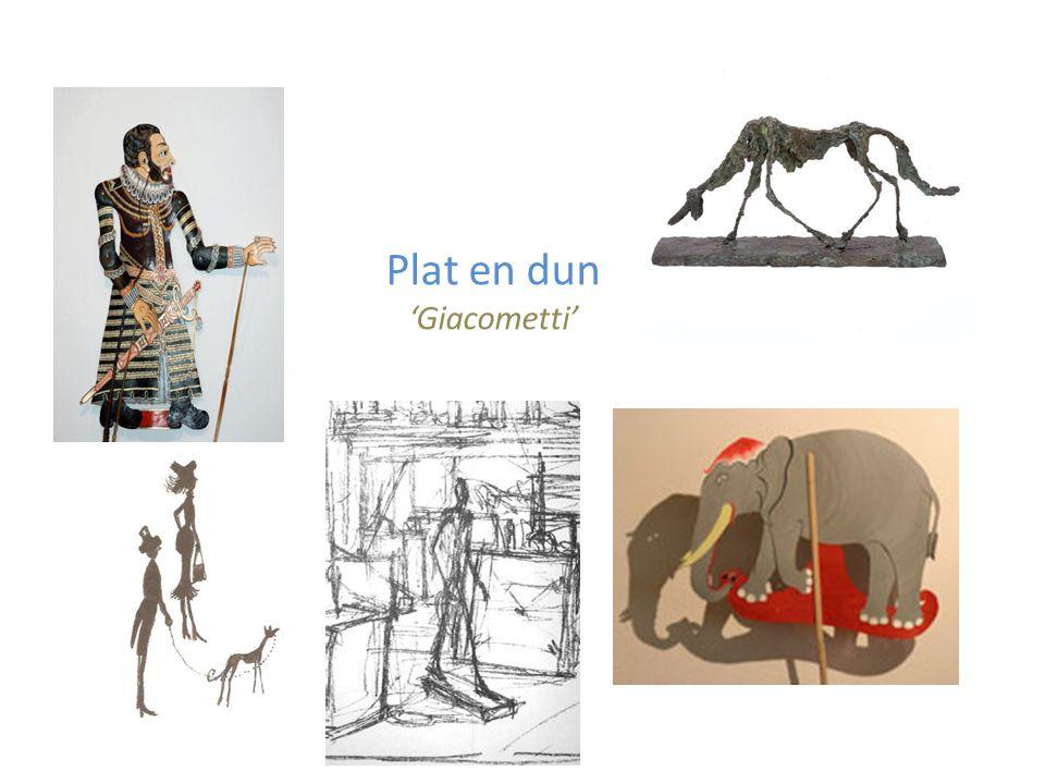Plat en dun 'Giacometti'