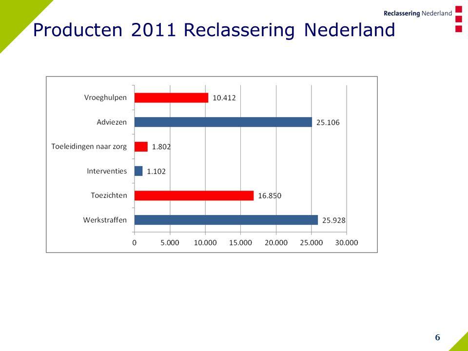 6 Producten 2011 Reclassering Nederland