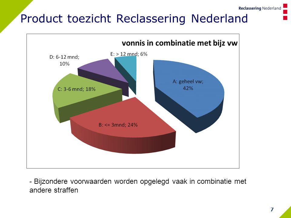 7 Product toezicht Reclassering Nederland - Bijzondere voorwaarden worden opgelegd vaak in combinatie met andere straffen