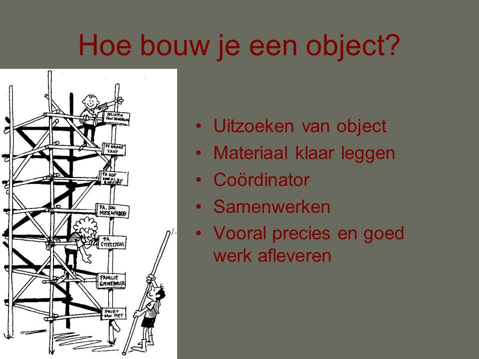 Hoe bouw je een object.