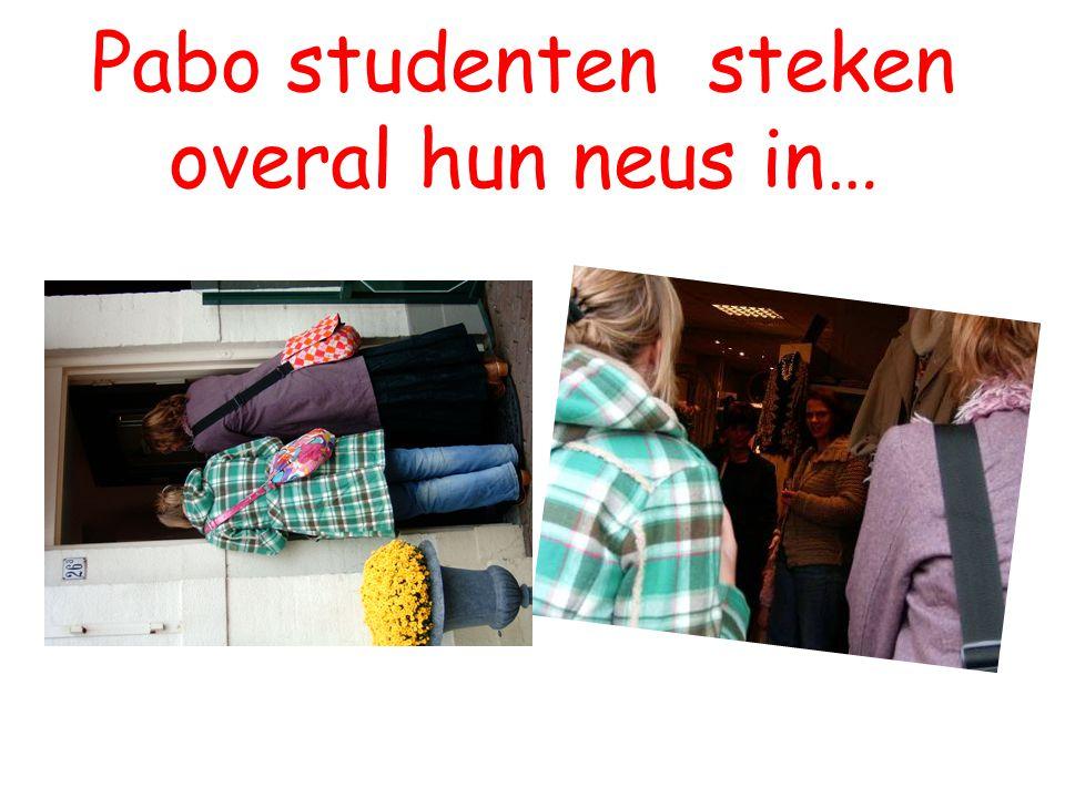 Pabo studenten steken overal hun neus in…