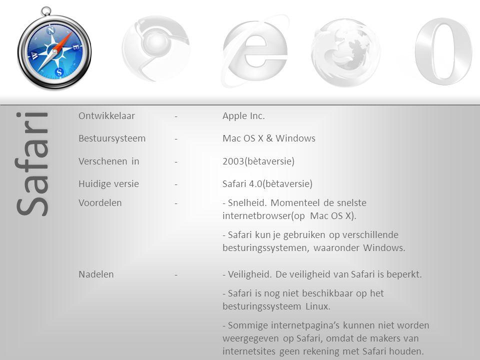 Safari Ontwikkelaar-Apple Inc.