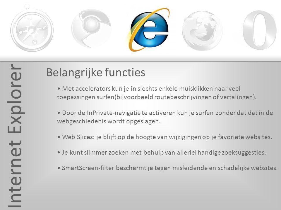 Mozilla Firefox Ontwikkelaar-Mozilla Bestuursysteem-Windows, Mac OS X & Linux Verschenen in -2004 Huidige versie-3.0.10 Voordelen -- Spellingscontrole - Veilig - Persoonlijk Nadelen -- Kleine bugs - Websites worden niet altijd weergegeven, zoals het moet.