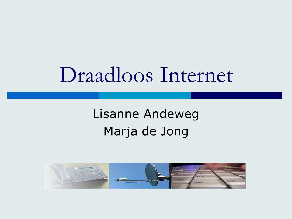 Draadloos Internet Lisanne Andeweg Marja de Jong