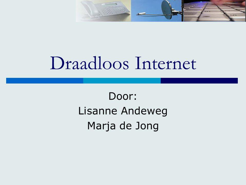 Draadloos Internet Door: Lisanne Andeweg Marja de Jong