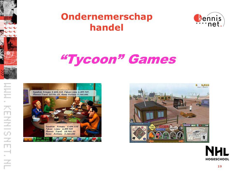 """19 """"Tycoon"""" Games Ondernemerschap handel"""