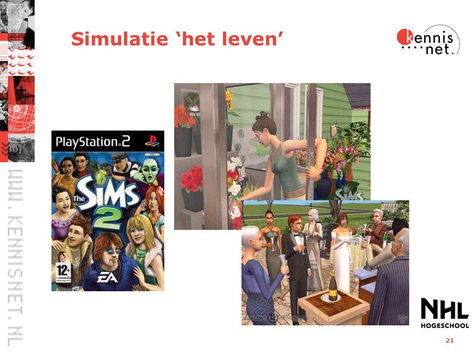 21 Simulatie 'het leven'