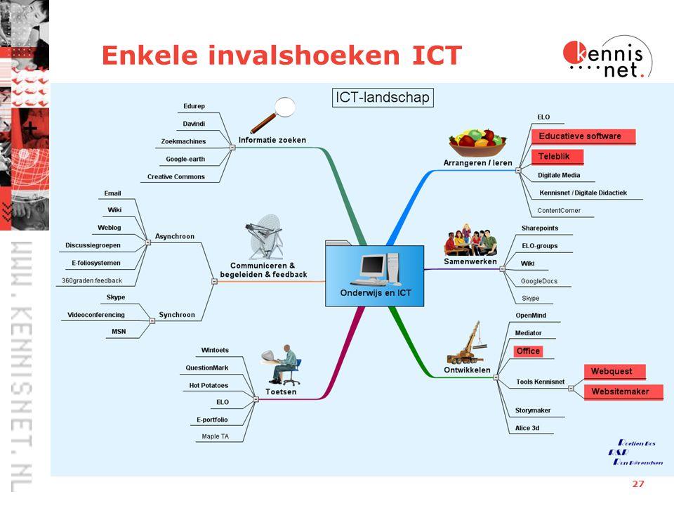 27 Enkele invalshoeken ICT