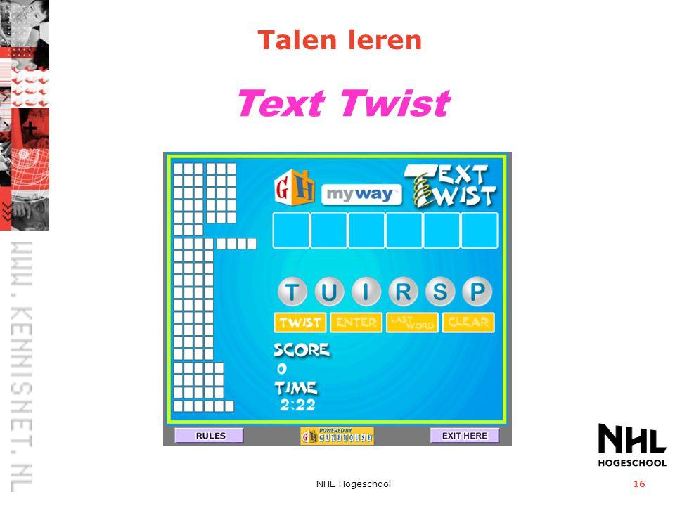 NHL Hogeschool16 Text Twist Talen leren