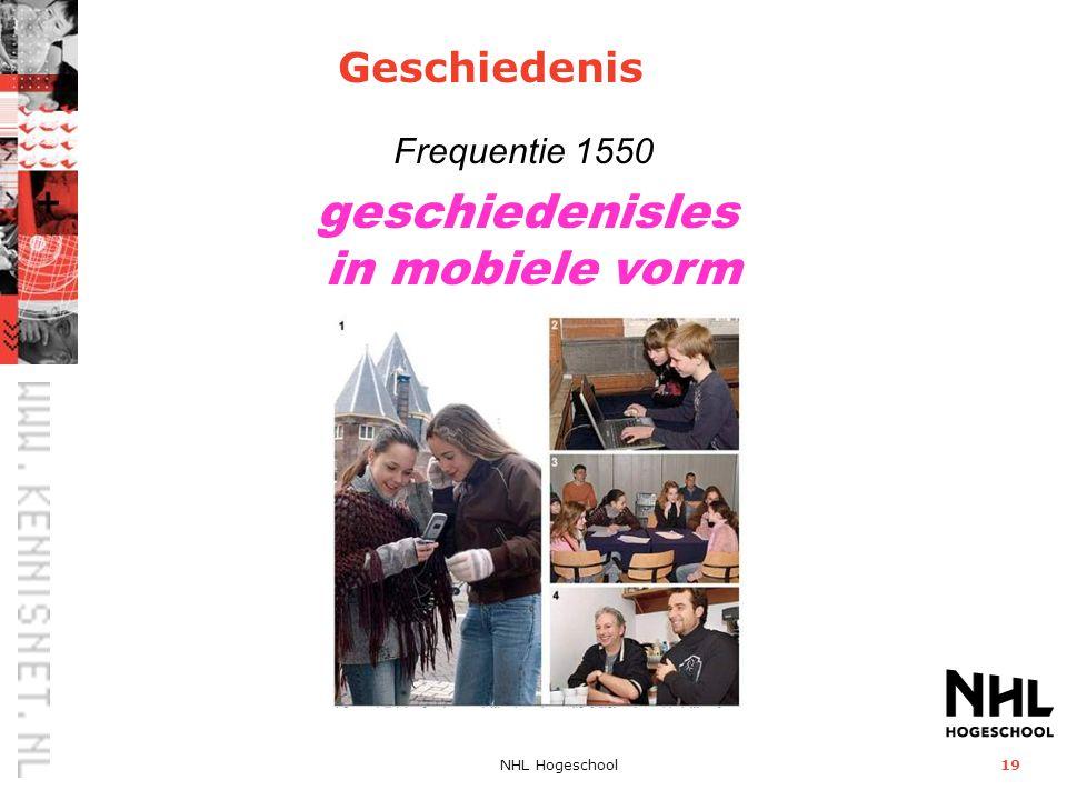 NHL Hogeschool19 geschiedenisles in mobiele vorm Frequentie 1550 Geschiedenis