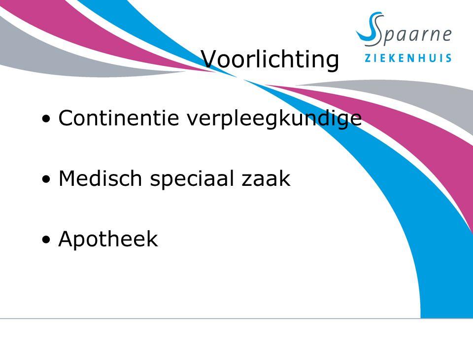 Voorlichting Continentie verpleegkundige Medisch speciaal zaak Apotheek 23-9-2014urine verlies na een prostaat operatie 11