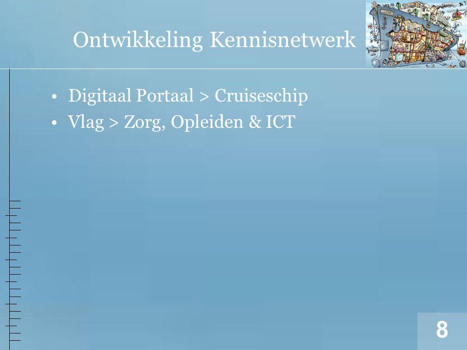 8 Ontwikkeling Kennisnetwerk Digitaal Portaal > Cruiseschip Vlag > Zorg, Opleiden & ICT