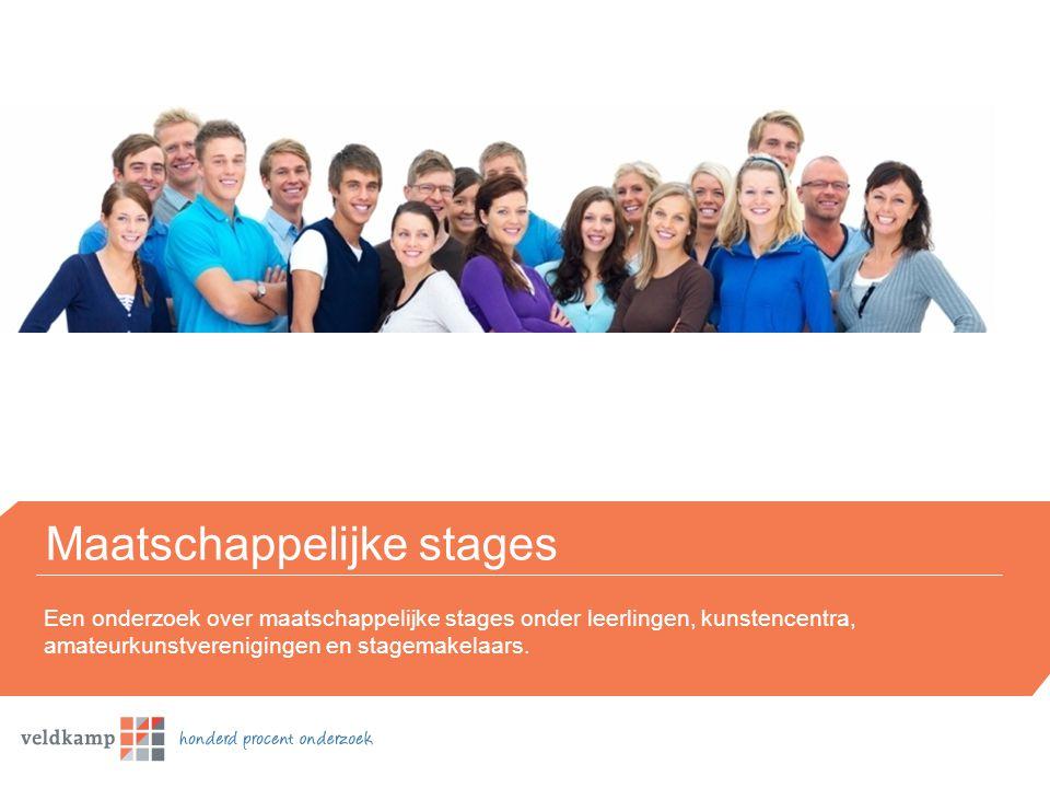 Maatschappelijke stages Een onderzoek over maatschappelijke stages onder leerlingen, kunstencentra, amateurkunstverenigingen en stagemakelaars.