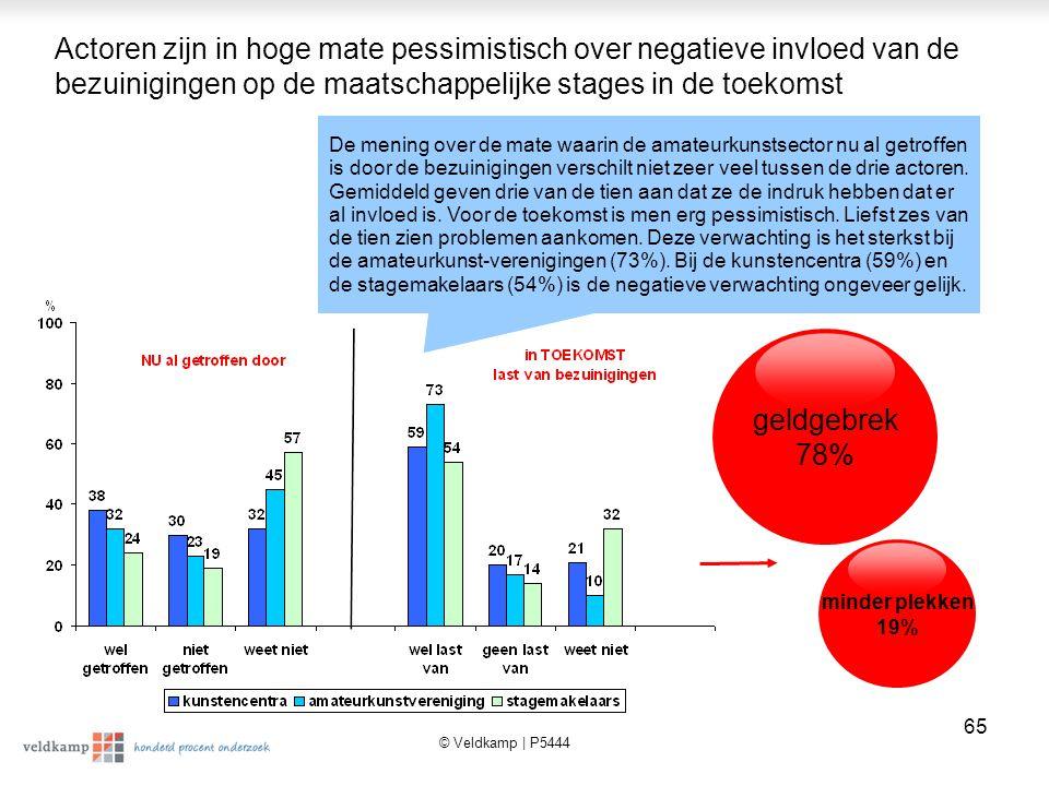 © Veldkamp | P5444 66 Resultaten Kwalitatief Onderzoek Belangrijkste conclusies