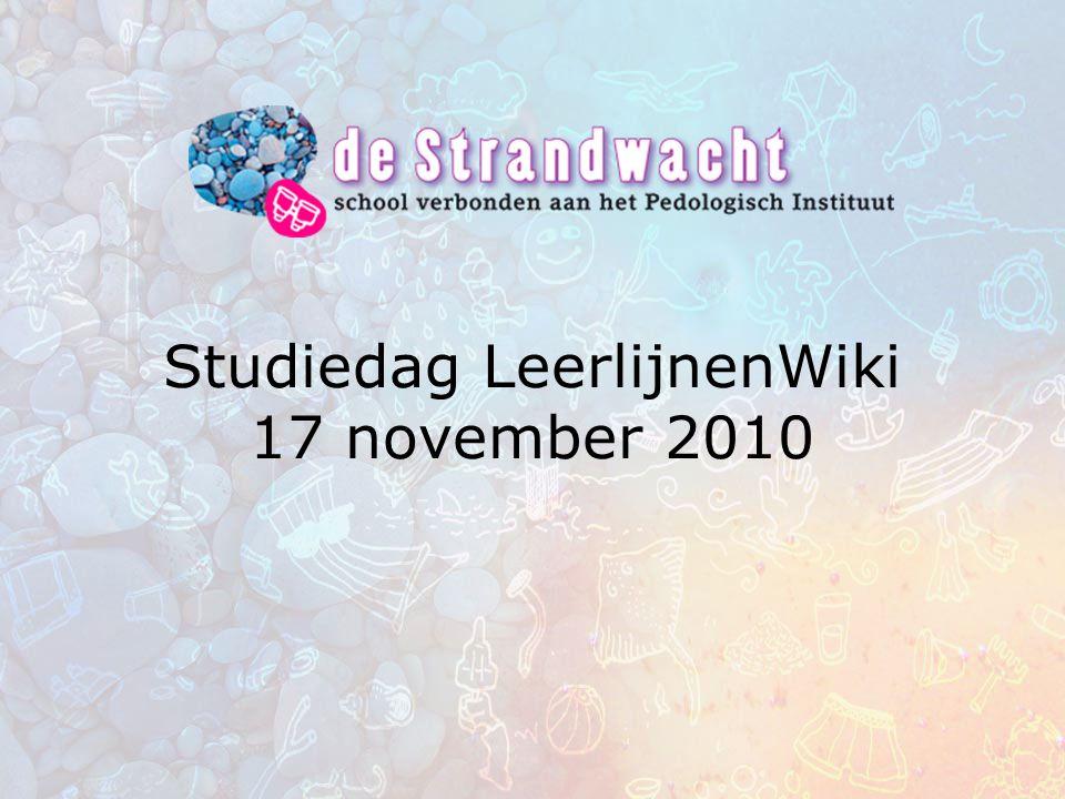 Studiedag LeerlijnenWiki 17 november 2010