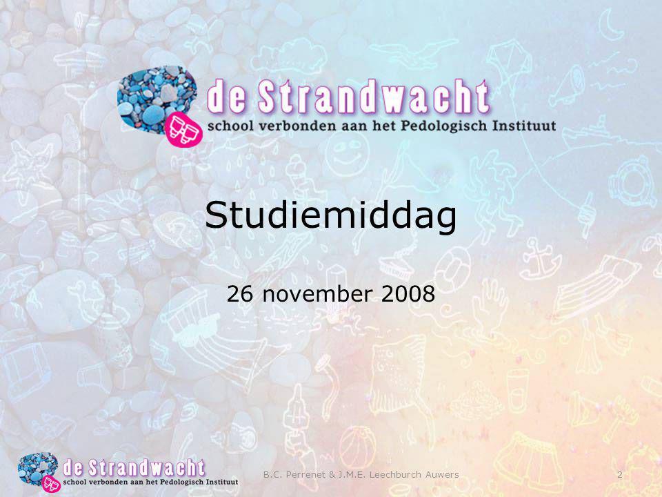 2 Studiemiddag 26 november 2008