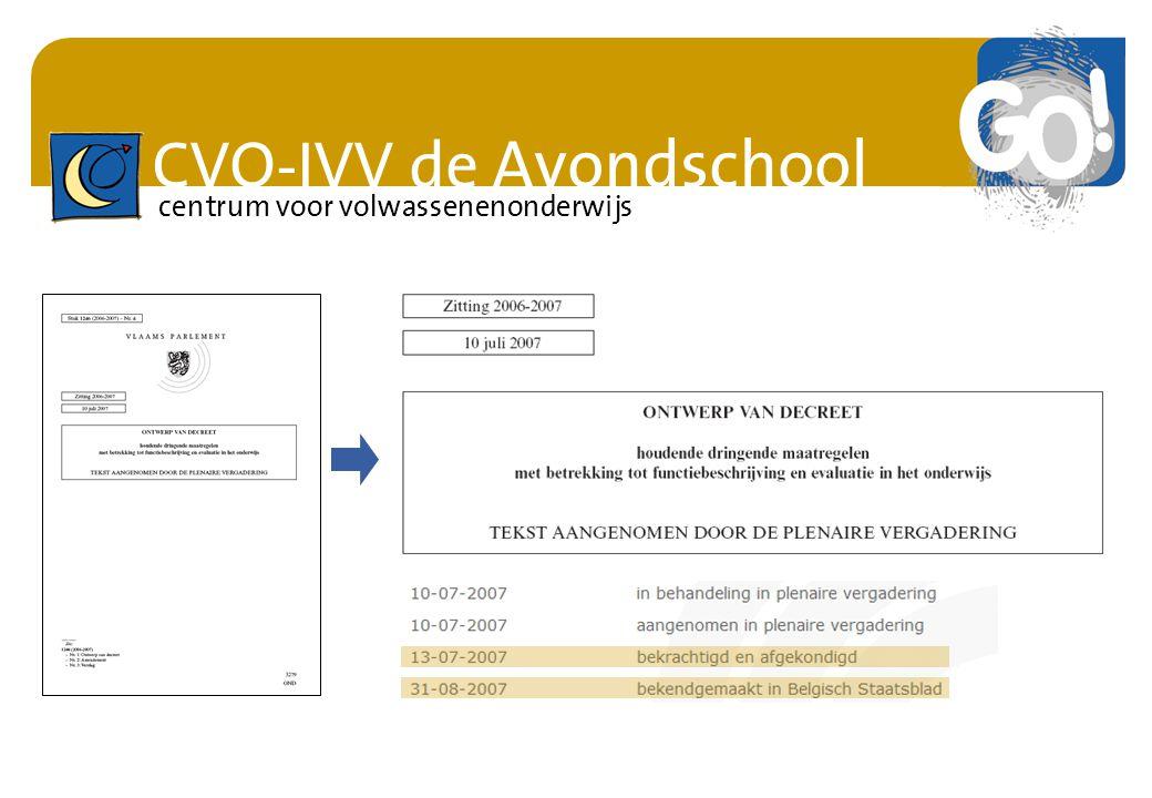 CVO-IVV de Avondschool centrum voor volwassenenonderwijs