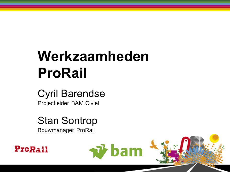 Stan Sontrop Bouwmanager ProRail Cyril Barendse Projectleider BAM Civiel Werkzaamheden ProRail