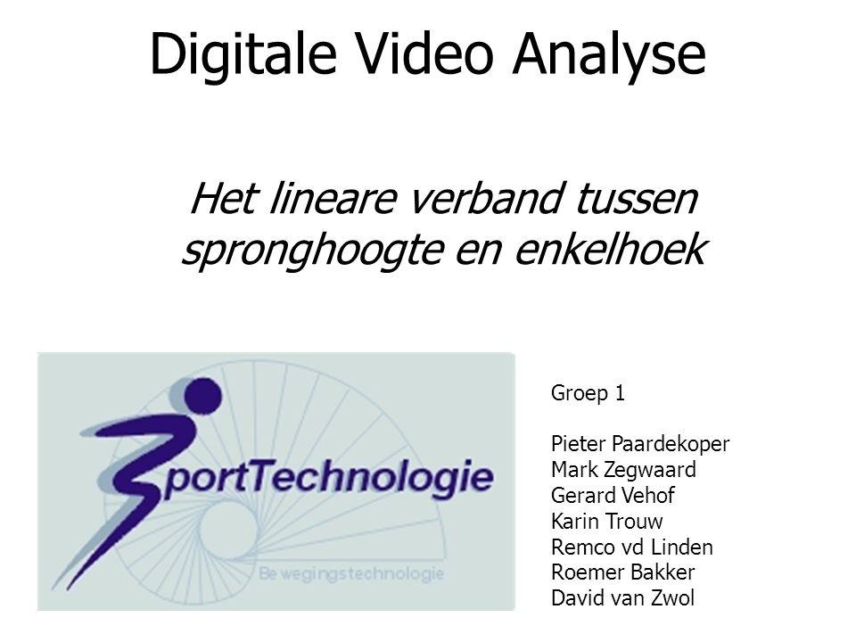 Digitale Video Analyse Groep 1 Pieter Paardekoper Mark Zegwaard Gerard Vehof Karin Trouw Remco vd Linden Roemer Bakker David van Zwol Het lineare verb