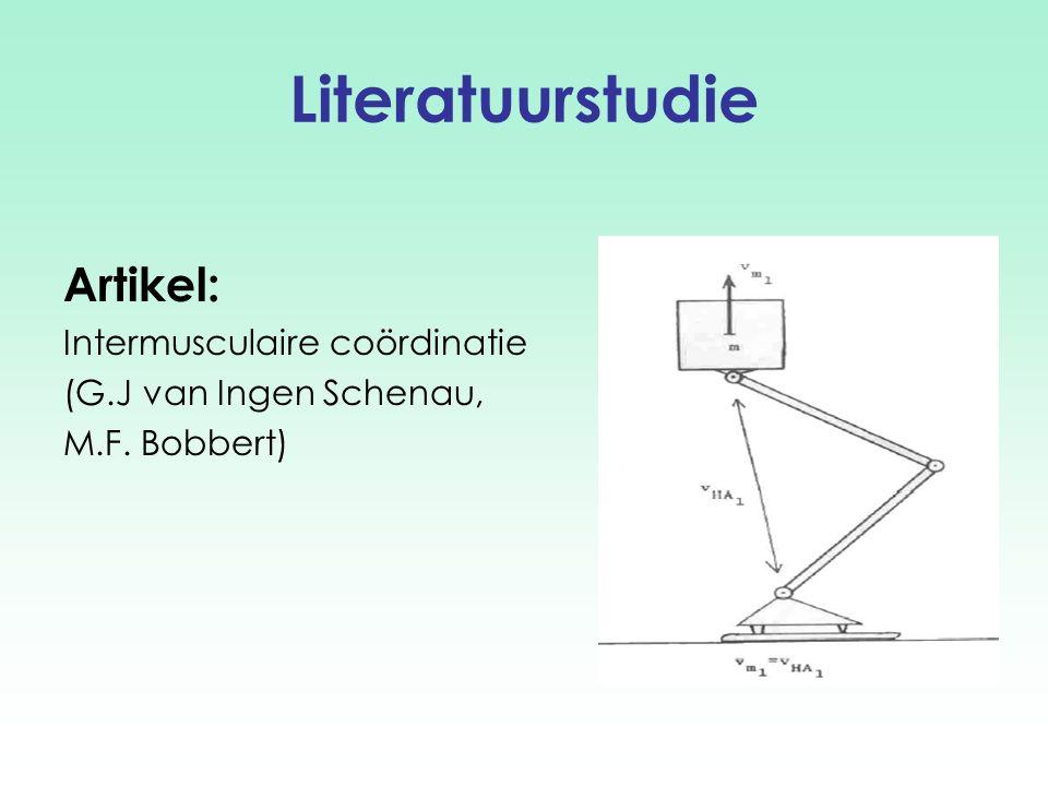 Literatuurstudie Artikel: Intermusculaire coördinatie (G.J van Ingen Schenau, M.F. Bobbert)