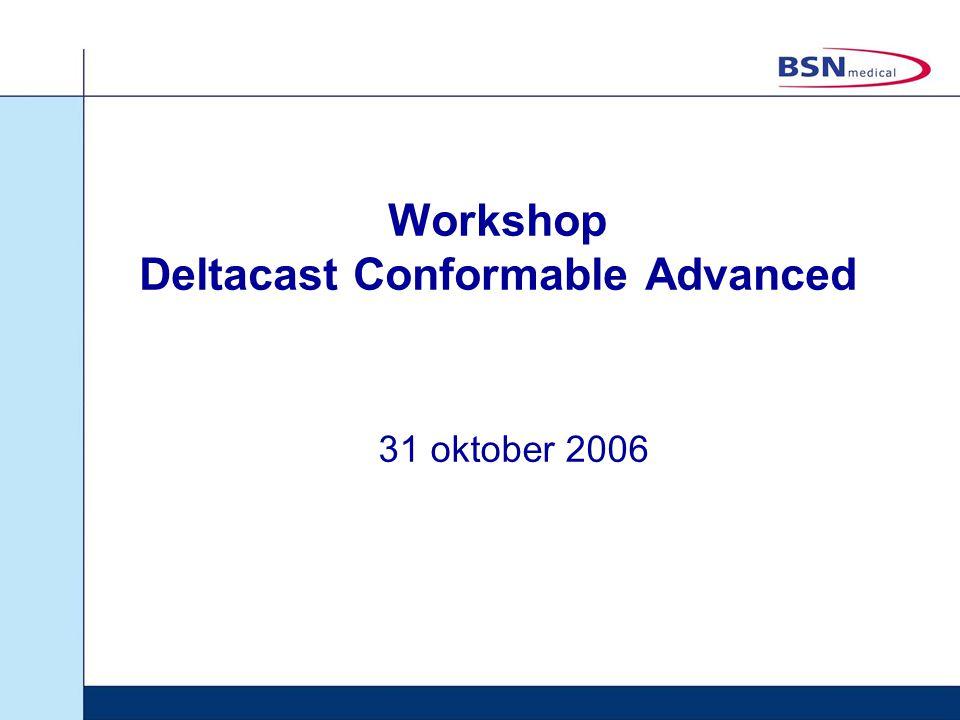 Workshop Deltacast Conformable Advanced 31 oktober 2006