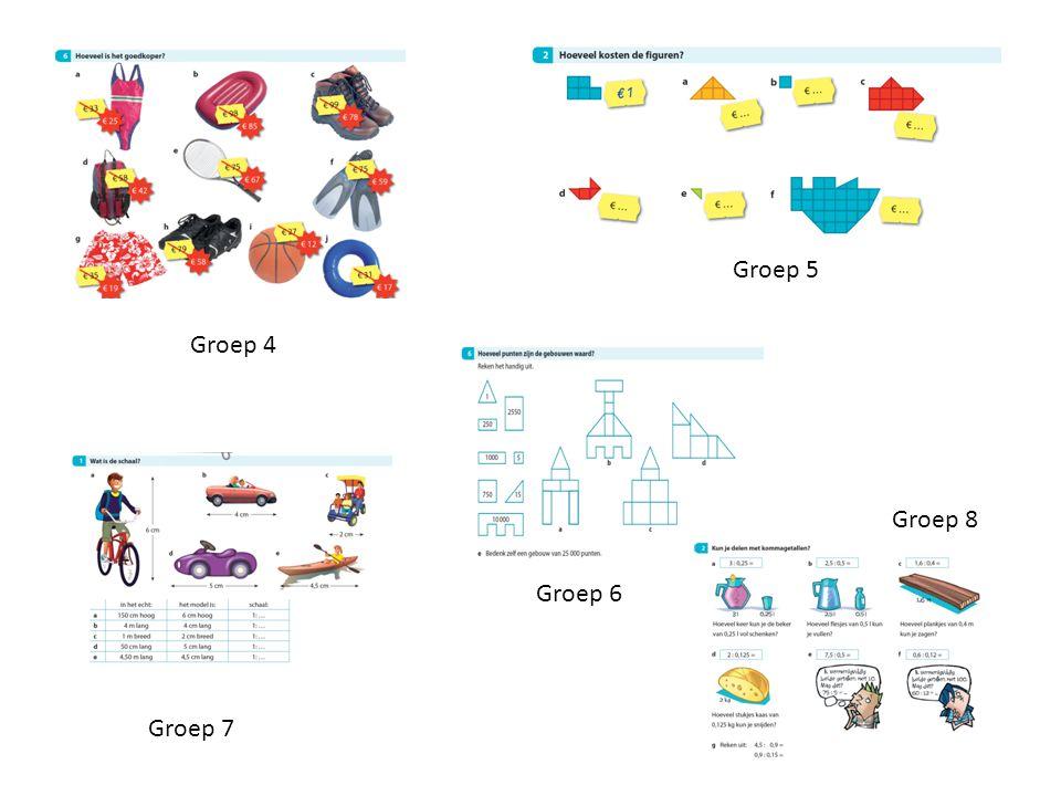 Groep 4 Groep 5 Groep 7 Groep 6 Groep 8