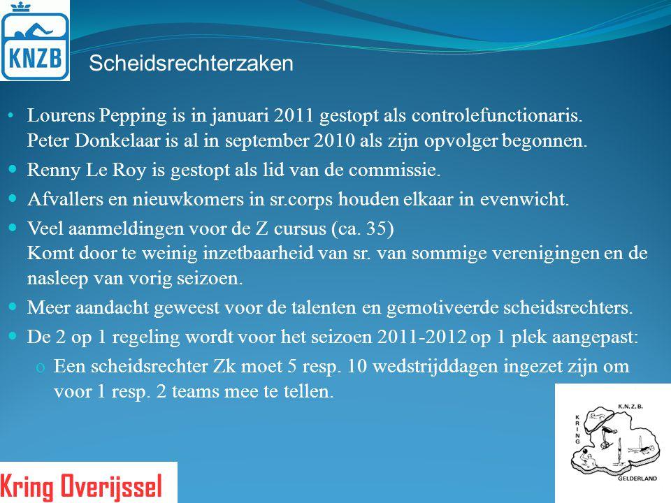 Scheidsrechterzaken Lourens Pepping is in januari 2011 gestopt als controlefunctionaris. Peter Donkelaar is al in september 2010 als zijn opvolger beg
