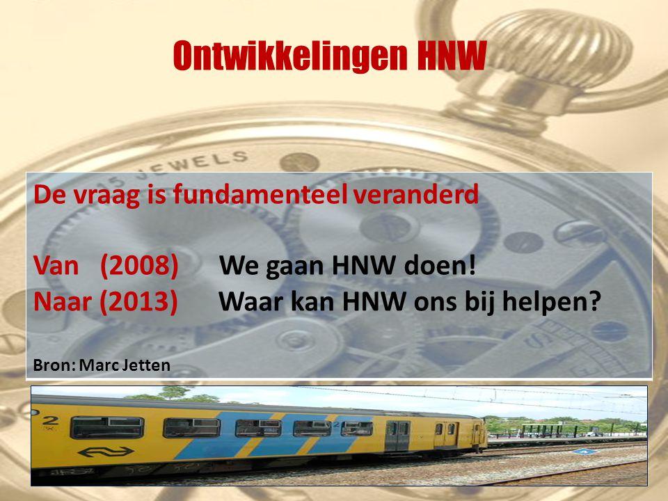 Ontwikkelingen HNW De vraag is fundamenteel veranderd Van (2008) We gaan HNW doen.