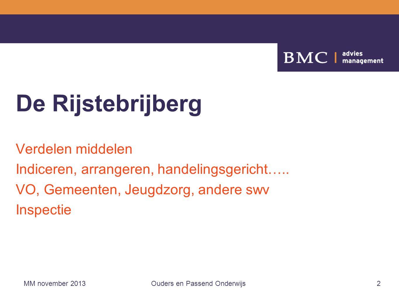 De Rijstebrijberg Verdelen middelen Indiceren, arrangeren, handelingsgericht…..