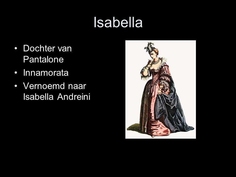 Isabella Dochter van Pantalone Innamorata Vernoemd naar Isabella Andreini